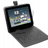 Husa cu tastatura Tracer microUSB neagra 7 inch