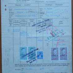 Certificat de origine marfa ; Consulatul Regal al Romaniei, Dresda, 1942 - Diploma/Certificat