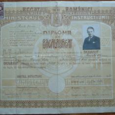Diploma de bacalaureat ; Liceul Dragos Voda, Campulung Moldovenesc, 1930 - Diploma/Certificat
