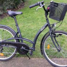 Bicicleta bTwin Elops oras - Bicicleta de oras, 17 inch, 26 inch, Numar viteze: 6