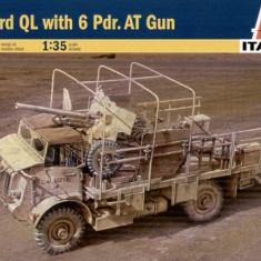+ Macheta 1/35 Italeri 6474 - Bedford QL with 6 Pdr.AT Gun +