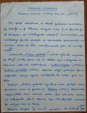 Manuscris al lui Ovidiu S. Crohmalniceanu , Cronica literara , 10 pagini