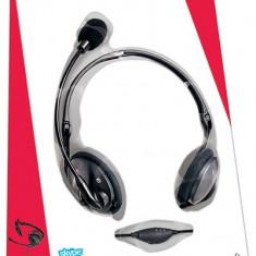Casti cu microfon Microsoft LifeChat LX-2000, negre ___ NOI, CUTIE SIGILATA - Casti PC Microsoft, Analog