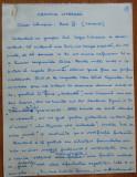 Manuscris al lui Ovidiu S. Crohmalniceanu , Cronica literara , 7 pagini