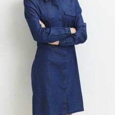 Rochie denim, stil camasa - Vila - art 14032778 blue denim - Rochie de zi Vila, Marime: 38, Culoare: Albastru