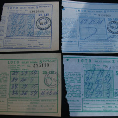 Bilete loto seria s-1983-1986 - Bilet Loterie Numismatica