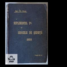 Ioan Ph. Ghetu, Suplimentul I-ul la Codicele de sedinta 1895, 823 pag., Alta editura