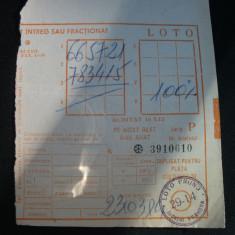 Bilete loto-1984 - Bilet Loterie Numismatica