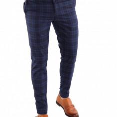 Pantaloni tip ZARA albastrii - pantaloni barbati - pantaloni office - 6839, Marime: 29, Culoare: Din imagine