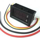Voltampermetru c.c. cu afisaj LED dual, 100V, 10A, DSN-VC288
