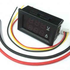 Voltampermetru c.c. cu afisaj LED dual, 100V, 10A, DSN-VC288 cod:10101101