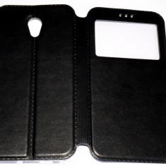 Husa Protectie Toc Flip Cover Vodafone Smart Prime 7, Alt model telefon Vodafone, Negru, Piele Ecologica
