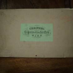 Caiet cu planse caligrafie - Carte veche