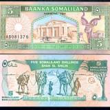 !!! SOMALILAND - 5 SHILLINGS 1994 - P 1 - UNC - bancnota africa