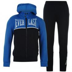 Trening Everlast Original pentru copii din bumbac pantalon si hanorac, Marime: S, M, L, Culoare: Albastru, Gri, Baieti