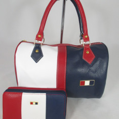Set dama geanta si portofel Tommy Hilfiger+CADOU - Geanta Dama Tommy Hilfiger, Culoare: Din imagine, Marime: Medie, Geanta de umar, Asemanator piele