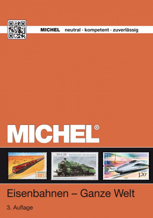 MICHEL CATALOG SPEZIAL 2014 TRENURI SI LOCOMOTIVE PE TIMBRE  PE DVD