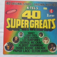 Various ‎– K-Tel's 40 Super Greats _ dublu vinyl, LP, Germania - Muzica Pop Altele, VINIL