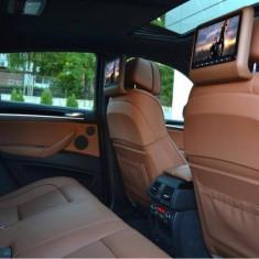 DVD tetiere auto set 2 monitoare Maro (Coniac) - Monitor Auto