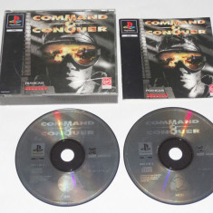 Joc consola Sony Playstation 1 PS1 PS One - Command & Conquer, Strategie, Toate varstele, Single player