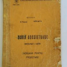SCULE ASCHIETOARE SECTIUNEA 1 CUTITE , INDRUMAR PENTRU PROIECTARE ,ROSCA