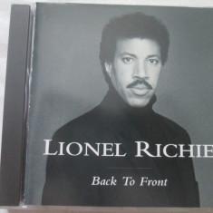Lionel Richie – Back To Front _ cd, album, Motown(EU) - Muzica R&B Altele