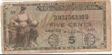 SUA USA MPC MILITARY PAYMENT CERTIFICATE 5 CENTS CENTI U