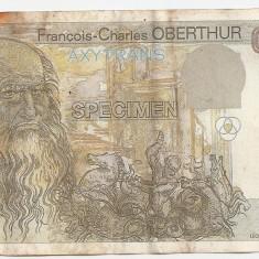 OBERTHUR AXYTRANS TEST PROBA DA VINCI SPECIMEN 0000 F - bancnota europa, An: 1999