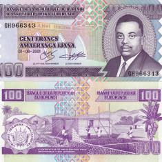 BURUNDI 100 francs 2001 UNC!!! - bancnota africa