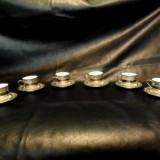 Servici cafea placat cu argint -Glass Porcelain Manufacturers Debelly