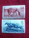 Serie- Cai si Calarie 1949 SAAR , 2 val., Nestampilat