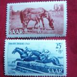 Serie- Cai si Calarie 1949 SAAR, 2 val., Nestampilat