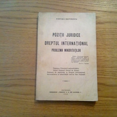 POZITII JURIDICE IN DREPTUL INTERNATIONAL * Minoritatile - Vintila I. Gaftoescu - Carte Drept international