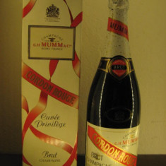 Rare șampanie - champagne, mumm, cordon rouge, brut, 750ml, 12% vol, ani 80/90