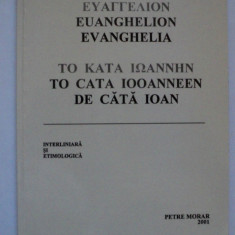 Evanghelia de cata Ioan - interliniara si etimologica - Petre Morar -koine roman - Biblia