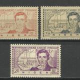 EROARE-VARIETATE IMPRIMARE SERIE NIGER 1939 MNH/ MH, Nestampilat