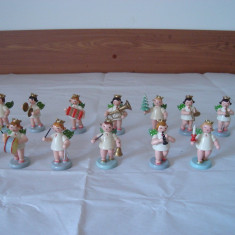 Figurine-miniaturi lemn vintage (set 14 buc) - Miniatura Figurina