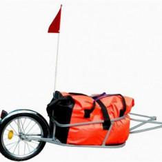 Remorca de bicicleta pentru bagaje cu o roata