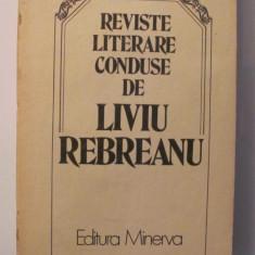 "AF - Nae ANTONESCU ""Reviste literare conduse de Liviu Rebreanu"""
