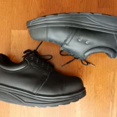 Pantofi lucru bombeu metalic ortopedici MBT Anti-Shoes piele naturala; 45;ca noi - Echipament lucru