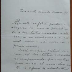 Scrisoare a scriitorului Ion Dragoslav, 4 pagini, 1921 - Autograf