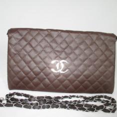 Plic dama maro Chanel+CADOU - Geanta Dama Chanel, Culoare: Din imagine, Marime: Medie, Geanta plic, Asemanator piele