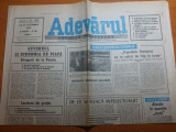 ziarul adevarul 25 octombrie 1990- petre roman intalnire cu presedintel frantei
