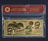 100 DOLARI 1863 S.U.A. - BANCNOTA POLYMER PLACATA CU AUR 24K