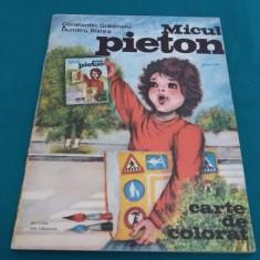 MICUL PIETON/ CARTE COLORAT /1981/ILUSTRAȚII DUMITRU RISTEA - Carte de colorat