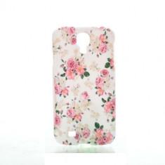 Carcasa telefon mobil Samsung Galaxy S4 mini rezistent flori roz alb cadou nou - Husa Telefon