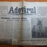Ziarul adevarul 2 decembrie 1990-art. 1 decembrie restituit romanilor