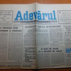 ziarul adevarul 28 septembrie 1990