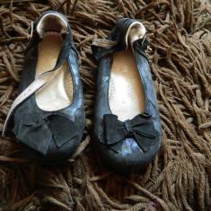 Papucei, balerini negri, pantofiori, marimea 24-25, cu fundita, negri - Balerini copii, Culoare: Negru, Fete