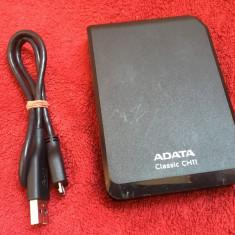 HDD Hard disc extern 500GB USB 3.0 ADATA CH11 - 6 ore functionare - HDD extern A-data, 500-999 GB, 2.5 inch, 8 MB